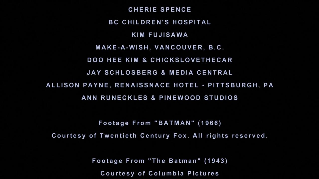 CLTC given credit at the end of Batmobile Documentary