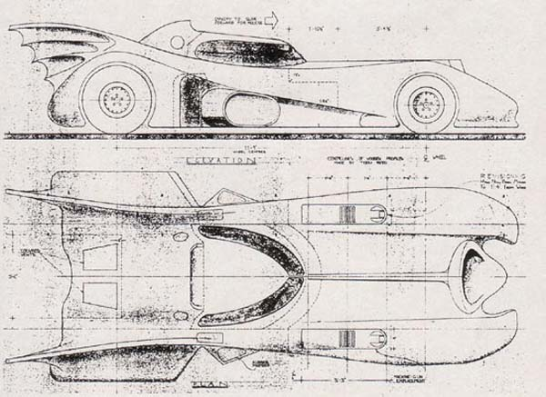 Go Kart Blueprints. 1989 Batmobile Blueprints