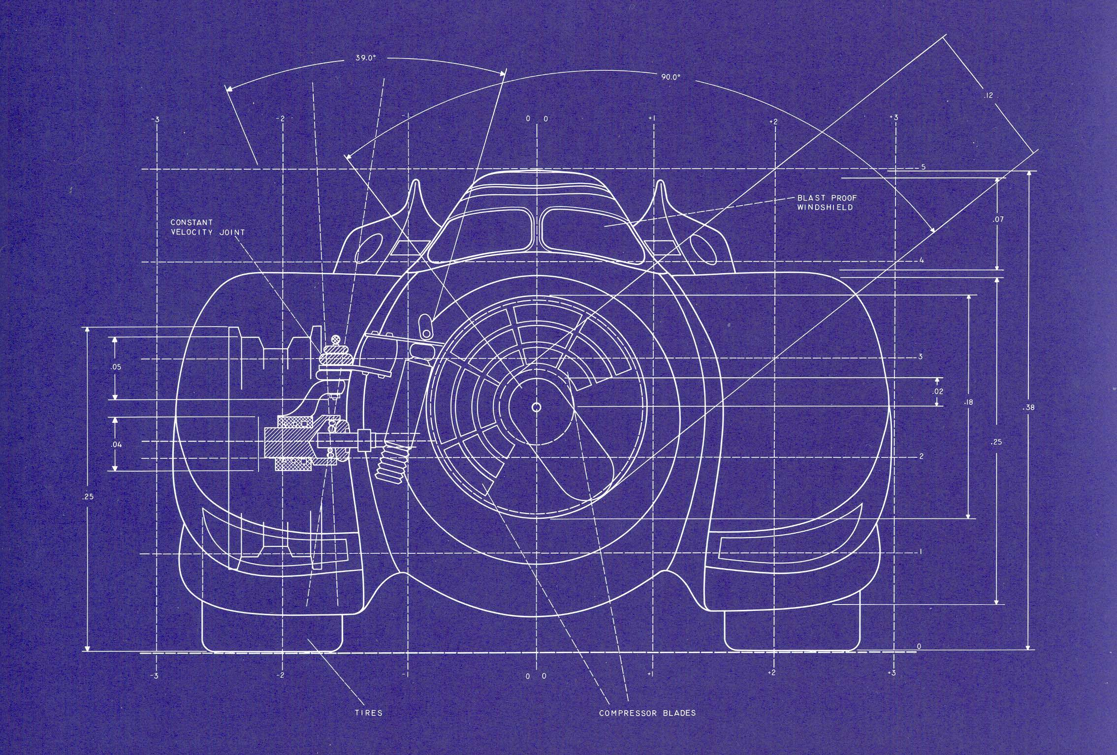 1989 Batmobile Blueprints